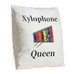 Xylophone Queen Burlap Throw Pillow