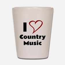 I Love Country Music Shot Glass