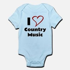 I Love Country Music Body Suit