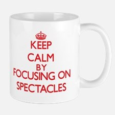 Keep Calm by focusing on Spectacles Mugs