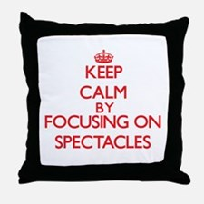 Keep Calm by focusing on Spectacles Throw Pillow