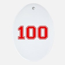 100 Ornament (Oval)