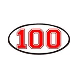 Number 100 Patches
