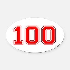 100 Oval Car Magnet