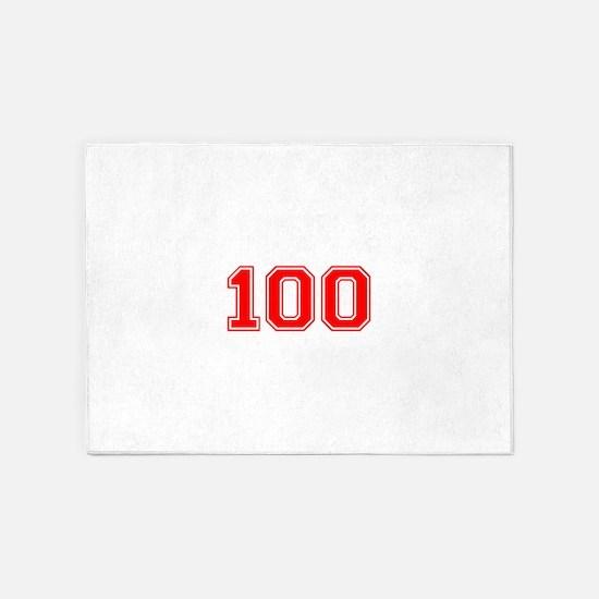 100 5'x7'Area Rug