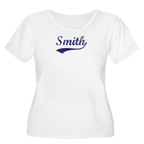 Smith - vintage (blue) Women's Plus Size Scoop Nec