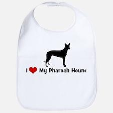 I Love My Pharoah Hound Bib