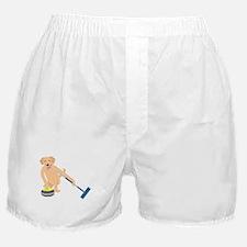 Golden Retriever Curling Boxer Shorts