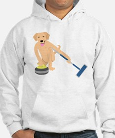 Golden Retriever Curling Hoodie