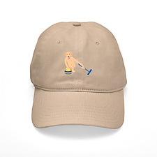 Golden Retriever Curling Baseball Cap