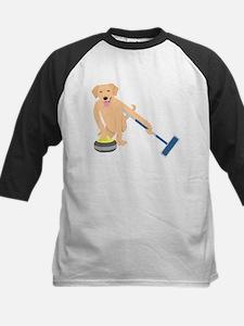 Golden Retriever Curling Tee