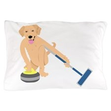 Golden Retriever Curling Pillow Case
