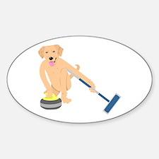 Golden Retriever Curling Decal