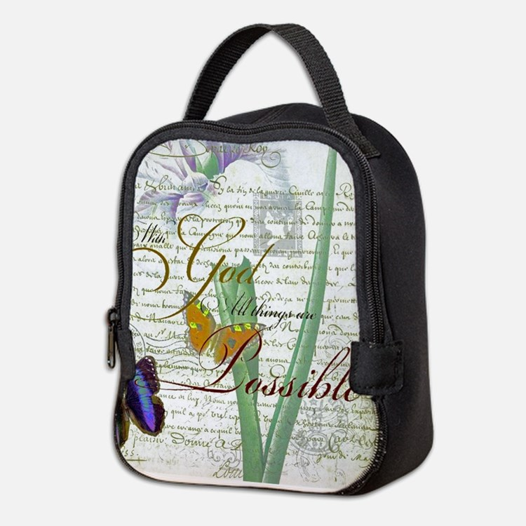 All things are possible Neoprene Lunch Bag