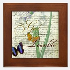 All things are possible Framed Tile