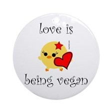 Love Is Ornament (Round)