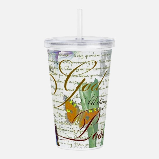 All things are possibl Acrylic Double-wall Tumbler