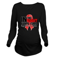 Cure AIDS Long Sleeve Maternity T-Shirt