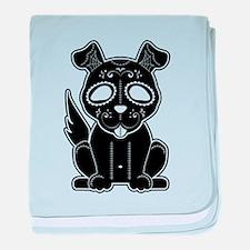 Sugar Puppy - Black baby blanket
