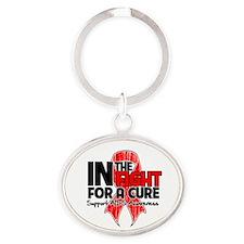 Cure AIDS Oval Keychain