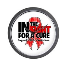 Cure AIDS Wall Clock