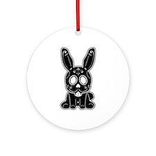 Sugar Bunny - Black Ornament (Round)