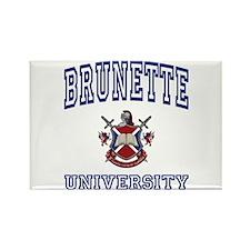 BRUNETTE University Rectangle Magnet
