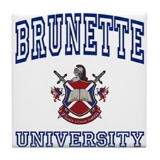 BRUNETTE University Tile Coaster