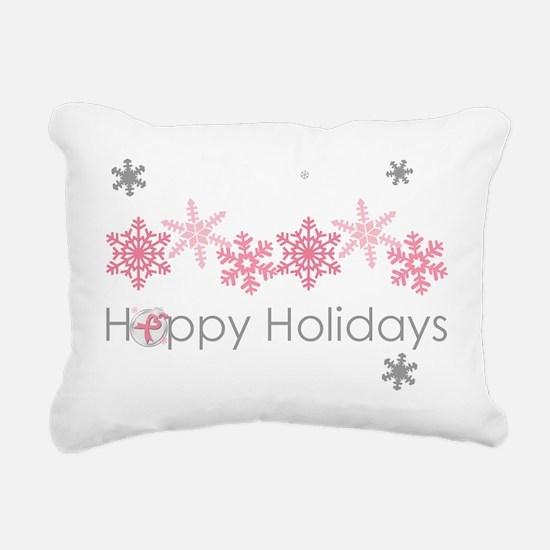 Pink Snkowflake Holidays Rectangular Canvas Pillow