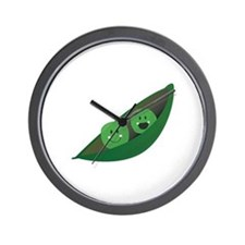 Two Peas Wall Clock