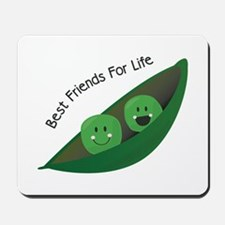 Best Friend Peas Mousepad