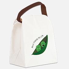 Best Friend Peas Canvas Lunch Bag
