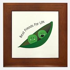 Best Friend Peas Framed Tile