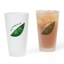 Best Friend Peas Drinking Glass