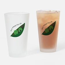 Best Friend Peas Drinking Glass