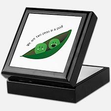 Two Peas in Pod Keepsake Box