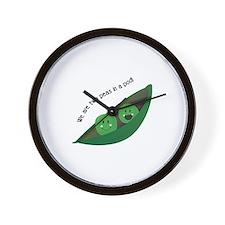 Two Peas in Pod Wall Clock