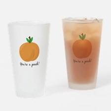 Youre a Peach Drinking Glass
