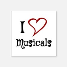 I Love Musicals Sticker