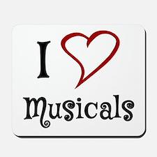 I Love Musicals Mousepad