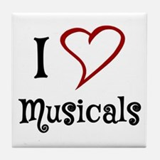 I Love Musicals Tile Coaster