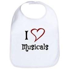 I Love Musicals Bib