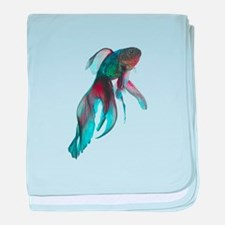 Fancy Betta Fish baby blanket