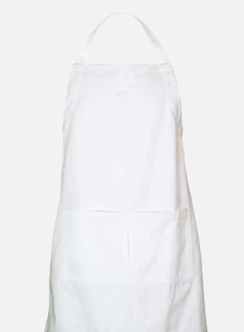 Solid white Apron