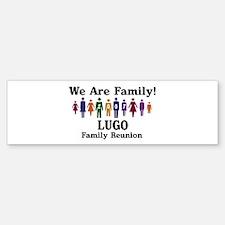 LUGO reunion (we are family) Bumper Bumper Bumper Sticker