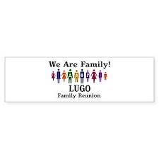 LUGO reunion (we are family) Bumper Bumper Sticker