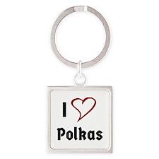 I Love Polkas Keychains