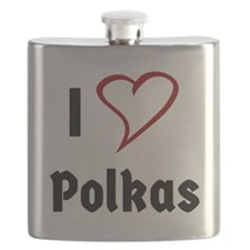 I Love Polkas Flask