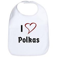 I Love Polkas Bib