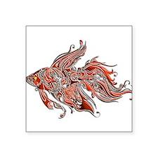 Orange and Rust Swirly Fantail Goldfish Sticker